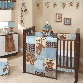 Carters Monkey Bars 4 Piece Crib Bedding Set Baby