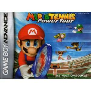 Mario Tennis Power Tour GBA Instruction Booklet (Game Boy Advance