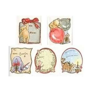 5 Classic Pooh Christmas Gift Labels/stickers Toys
