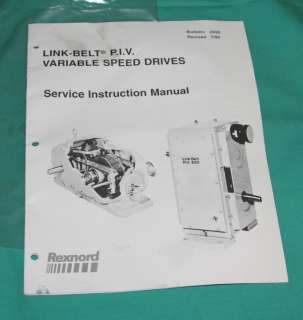 Link Belt Rexnord Variable Speed Drive 0410042 AM P.I.V