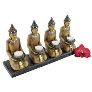 Buddha Spiritual Meditation Statue Sculpture Candle holder