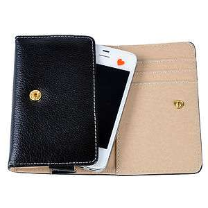 WALLET LEATHER CASE POUCH FOR CELL PHONES iPhone 4 4S Blackberry 9800