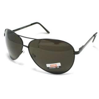 AVIATOR Sunglasses Cop Pilot Style Premium BLACK Metal