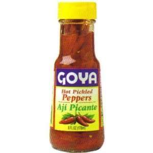 Goya Hot Pickled Red Peppers Grocery & Gourmet Food