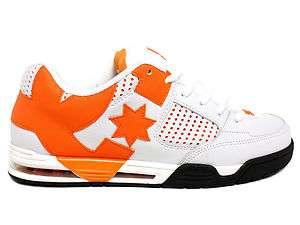 DC Command White/Orange Low Top Mens Skate Shoe 885112949894 |