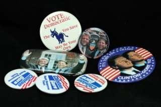 Vintage Metal Political Campaign Pinback Button Lot Clinton Gore 1992