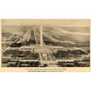 Memorial National Mall   Original Halftone Print
