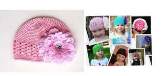 Pink Baby Kids Knit Crochet Handmade Beanie Skull Hat Cap