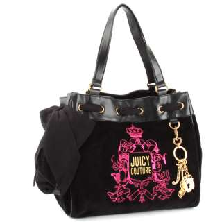 Juicy Couture Black Forever Crest Daydreamer Handbag  Black