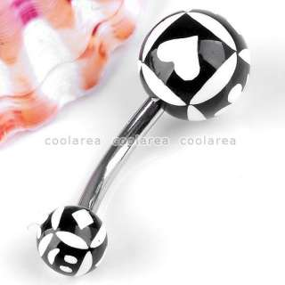 UV Stainless Steel Ball Belly Navel Ring Body Piercing Gift