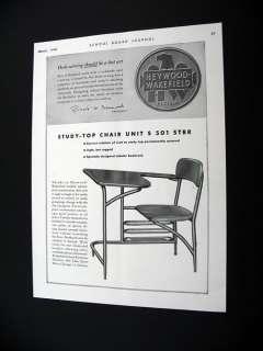Heywood Wakefield Study Top Chair Unit 1948 print Ad