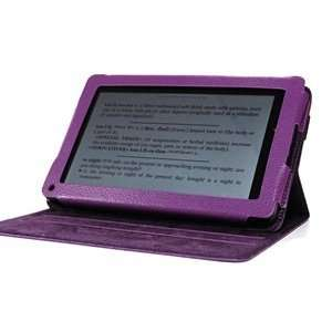 Bluecell Purple PU Leather Case / Cover Rotatable Flip