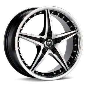 18x8 Enkei L SR (Black / Machined) Wheels/Rims 5x112 (451