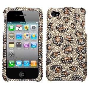Leopard Crystal Bling Case Cover for Apple iPhone 4 4G