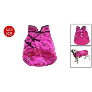 Suit Coat Floral Embroidery Dog Clothes Amaranth Pink XS