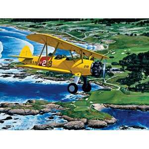 Stearman Over Cypress Point Jigsaw Puzzle 1000pc Toys