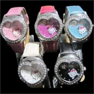 HELLOKITTY Heart Women Quartz Watch love heart Wrist Watch Ladies