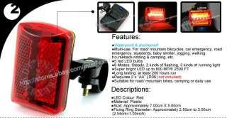 Bicycle Bike Head+Rear Tail Alarm LED Flash Light Lamp