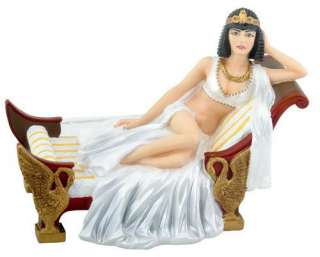 Cleopatra Recling on Bed Chaise Lounge Figurine Statue Ancient Egypt