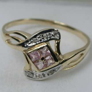 34 CARATS 14K SOLID YELLOW GOLD NATURAL PINK SAPPHIRE CLUSTER