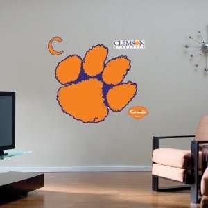 Clemson Tigers Team Logo Fathead Wall Sticker