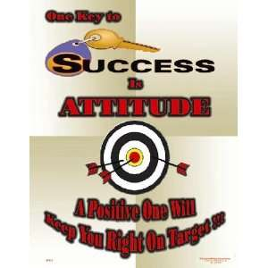 National Safety Compliance Key To Success is Attitude Poster   24 X 32