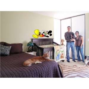 MICKEY MOUSE KIDS CARTOON WALL COLOR STICKER MURAL DISNEY