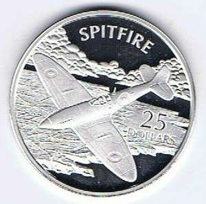 2003 SOLOMON ISLANDS $25 SILVER PR COIN 1oz WORLDS GREATEST AIRCRAFT