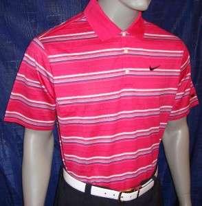 Tiger Woods Merc Textured Strp Tour w/ Ribbon Golf Polo Shirt