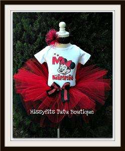 Girls Minnie Mouse Birthday Tutu 12m to 7y 2 styles available Pink or