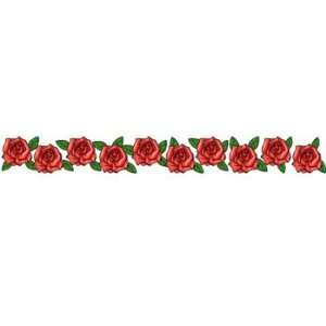 Band of roses arm band temporary tattoo 1 5x9 beauty