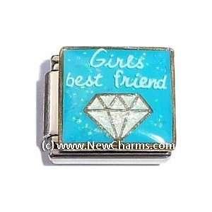 Girls Best Friend Italian Charm Bracelet Jewelry Link Jewelry
