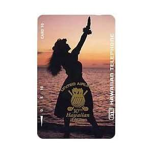Card 10u United Airlines 30th Hawaiian Open Golf 1995 Hula Girl