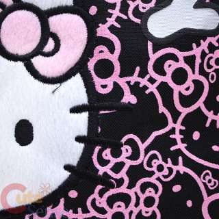 Sanrio Hello Kitty Tote Bag Shoulder/Diaper  Black Pink Glittering