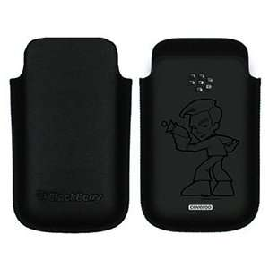 Star Trek Stylized Kirk on BlackBerry Leather Pocket Case