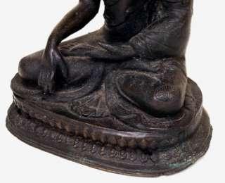 Chinese Tibetan Bronze Seated Buddha Quan Yin