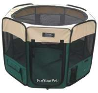 Sage Green EliteField 3 Door Soft Folding Dog Crate Cage Kennel 4 Size