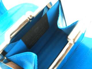 GENUINE EEL SKIN LEATHER WALLET with COIN PURSE   BLUE