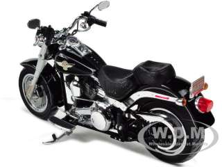 DAVIDSON FLSTF FAT BOY VIVID BLACK 1/12 BY HIGHWAY 61 81148