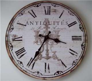 French Country Paris Shabby Cottage Chic 13 Quartz Wall Clock