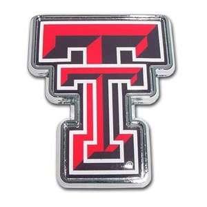 Tech University Red Raiders Color TT Chrome Plated Premium Metal