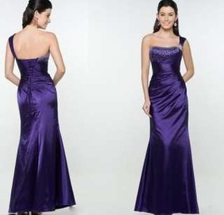Silk Purple Formal Prom/Bridesmaid Cocktail Party Evening Dress New UK