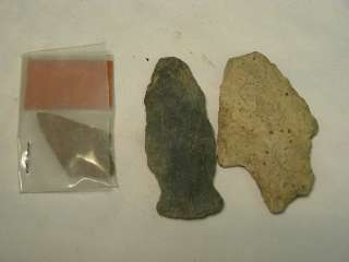 NATIVE AMERICAN  INDIAN ARROW HEADS, VERY NICE AXE HEAD, STONE