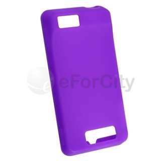 Purple Silicone Skin Case for Verizon Motorola Droid X2