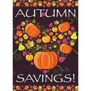 Autumn Savings Harvest Sign