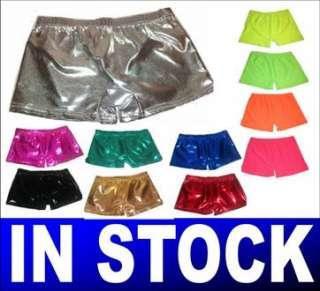 Hot Pants Neon Plain & Metallic Shorts Tutu 3 Sizes New