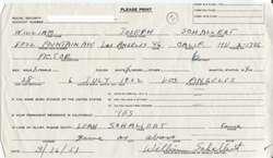WILLIAM J. SCHALLERT SIGNED DOCUMENT   PATTY DUKE, STAR TREK, BEAVER