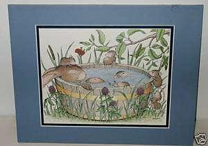Animal Matted Ellen Jareckie Mouse Rabbit Print © 1998