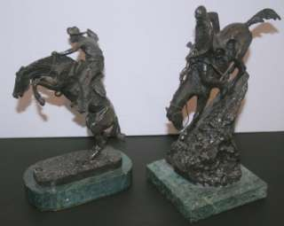 Remington Bronze Sculptures Statues WOOLY CHAPS and MOUNTAIN MAN