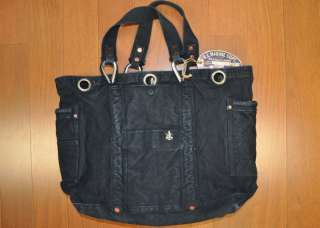 RL67 BLUE LABEL R L MARINE EQPT CANVAS INDIGO BLUE TOTE BAG
